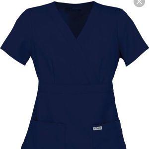 Grey's Anatomy Size Small Navy Scrub Top